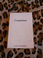 COMPLAINTE - Alain Lebourgeois - 1988