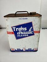 Vintage Trans-Draulic Fluids Two Gallon Can