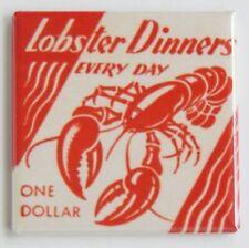 Lobster Dinners FRIDGE MAGNET seafood sign