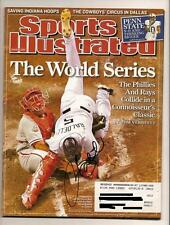 Rocco Baldelli Autographed signed SI sports Illustrated November 7th 2008 WS
