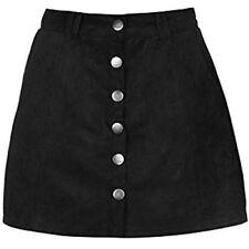 Firetrap Womens Suede Skirt Lightweight Full Popper Front Fastening Small A34120