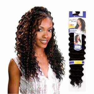 "Freetress 'Shake n Go'Crochet Long Curly Hair Extension Braid  DEEP TWIST 22"""