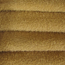 1/6 yd Vis1/Scm Wild Honey Intercal 6mm Med. Dense Curly Matted Viscose Fabric