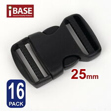 16x Quick Release Buckle Clip Side Cord Strap Fastener Belt Dual Adjustable 25mm