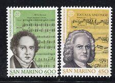 SAN MARINO 1985 EUROPA/EUROPA THEM/COMPOSERS/MUSIC/BACH/BELLINI/MUSICAL SCORE
