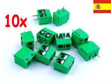 10x Bloque Terminal Clema Conexion 2 pines PCB - SCREW TERMINAL BLOCK 2 pin 106