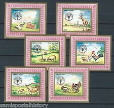 Middle East Yemen mnh deluxe stamp set - FAO - fauna