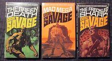 1971/72 DOC SAVAGE #65 66 67 FN-/FN+ 1st Bantam Paperback LOT of 3
