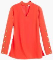 Chico's Womens Hardware Detail Choker Top Garibaldi Orange Size 3 (16/18) XL