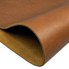 Full Grian Vegetable Tanned Leather 5-6 oz (2.0mm) Thick Pre-Cut Cowhide Usa