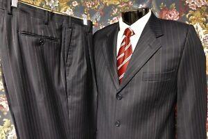 Giorgio Cavalli Classic-Fit Brown Pinstripe Suit 36R