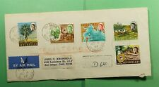 DR WHO 1967 SEYCHELLES VICTORIA REGISTERED AIRMAIL TO USA  f52925