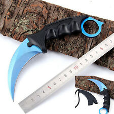 Blue Karambit Doppler Knife Go Cs Fixed Blade Counter Strike Combat Knife zh