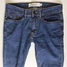 Mens Topman Moto Spray On Skinny Blue Jeans Size 30 S W30 L30 (486)