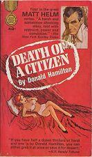 (Matt Helm)  Death of A Citizen by Donald Hamilton