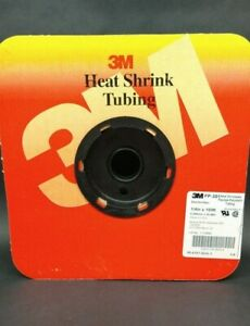3M FP-301 1/4 HEAT SHRINK FLEXIBLE TUBING 100ft ROLL BLACK 80-6107-5232-3 NOS