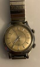 Vintage Jaeger Lecoultre Memovox Mechanical Alarm Dress Watch Runs