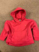 Zara Kids cropped pink hoodie sweater size 6.