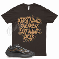 Brown SNEAKER HEAD T Shirt for Yeezy 700 V3 Clay Brown 350 380 500 Mocha Wheat