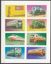 KOREA Pn. 1976 MNH** SC#1530a Sheet, Locomotives.  Imp.
