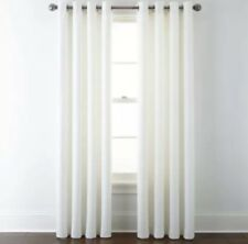 """Jcpenney Home Quinn Basketweave Single Grommet Top Panel 50""""X84"""" Cool White"""