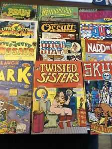 1970s UNDERGROUND Comic Comix Last Gasp Lot Of 12 Skull Twisted Sisters Occult