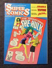 1992 SUPER COMICS Italian Magazine #21 FVF 7.0 She-Hulk Wolverine Dazzler