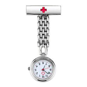 Quartz Nurse Watch Brooch Tunic Pocket Clip Brooch For Hospital Uniform Costume