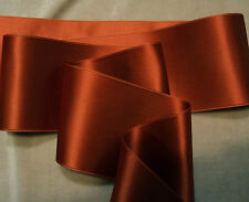 "1-1/2"" WIDE SWISS DOUBLE FACE SATIN RIBBON - RUST"