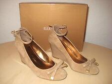 Ellen Tracy Shoes 6 M Womens New Factor 210079 Camel Suede Wedge Heels