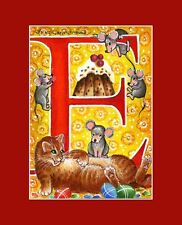 "Alphabet Cat ACEO Print Letter ""E"" by I Garmashova"
