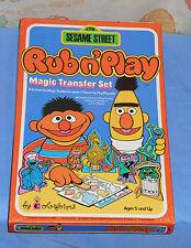 vintage SESAME STREET RUB N' PLAY transfer set MISB sealed Muppets Bert & Ernie
