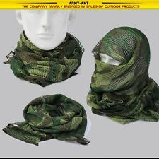 Woodland Camouflage Tactical Mesh Scarf Wrap Face Cover Mask Shawl Sniper Veil