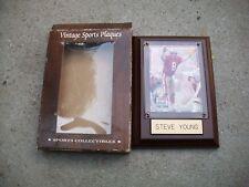 Antique Steve Young Authentic Vintage Sports Collectible Plaques Excellent RARE