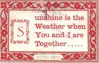 Vintage Postcard 1910 Hot Air Shots Sunshine the Weather When You & I Together