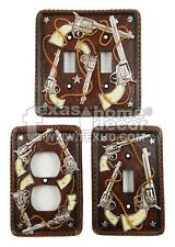 Western Rustic Four Pistols Rope Stars Switch Plates & Outlet Covers Toggle