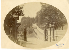 Angleterre Yale, West Point 1890, entrance gate and road, à identifier Vintage a