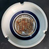 Luray Caverns Virginia gilt porcilain ashtray dish