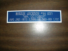 REGGIE JACKSON (YANKEES) NAMEPLATE FOR SIGNED BALL CASE/JERSEY CASE/PHOTO