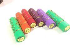 6 Pintalabios Magico Marroqui  2 Verdes 1 Morado 1 Lila 1 Rojo 1 Naranja