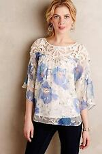 NWT Sz 0 Anthropologie Florafall Peasant Top Blouse by Vanessa Virginia Size XS