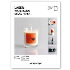 Sunnyscopa DIY Laser Waterslide Decal Paper Standard 13μm
