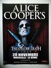 PUBLICITE-ADVERTISING :  ALICE COOPER  2010 Theatre of Death Tour,Marseille
