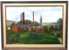 Löhnberg/Lahn b.Weilburg.Ansicht der Löhnberger-Hütte.Öl/Leinwand ~ 1890.34x49cm