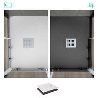 Piatto doccia su misura in acrilico effetto pietra bianco o grigio bagno design