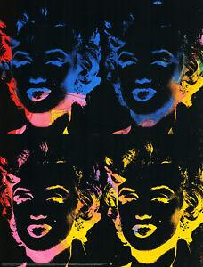 Andy Warhol - Four multicoloured Marylins - Hochwertiger Kunstdruck
