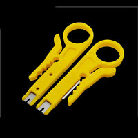Plastic Yellow Strip Data Cable Wire Punch Down Cutter Stripper Equipment New