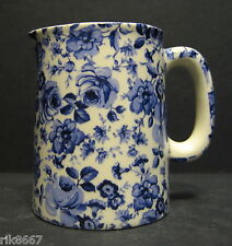 Heron Cross Pottery Small Blue Flower Chintz English 1/4 Pint Cream Jug