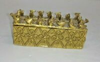 1989 MUSEUM OF MODERN ART MINI GOLD TONE METAL TRINKET BOX