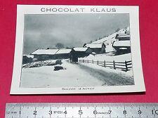 RARE 1900-1910 CHROMO PHOTO CHOCOLAT KLAUS SOIREE D'HIVER SUISSE SCHWEIZ